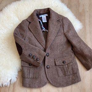 Janie and Jack brown wool blazer boy 2T coat